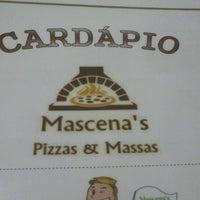 Photo taken at Mascena's Pizzas & Massas by Thácio D. on 7/6/2013