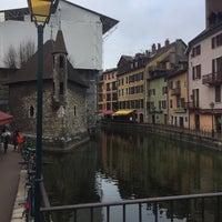 Photo taken at Canal du Thiou by Anastasia D. on 2/21/2017