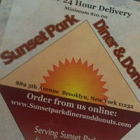 Photo taken at Sunset Park Diner and Donuts by Burp Fart M. on 11/12/2011