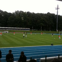 Photo taken at Stade Fallonstadion by Francois B. on 7/18/2012