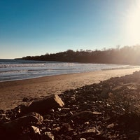 Photo taken at First Beach by Rachel M. on 11/24/2017