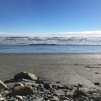Photo taken at First Beach by Rachel M. on 1/13/2018