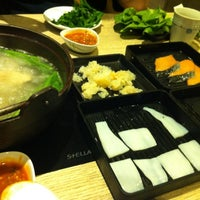 Photo taken at Shabu Yoshi by Poontaric G. on 10/4/2012