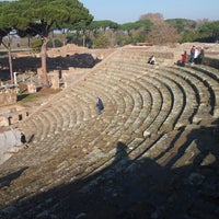 Photo taken at Teatro Ostia Antica by j C. on 12/24/2013