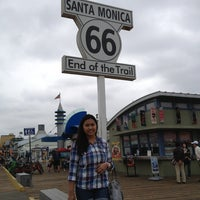 """Photo taken at Santa Monica Route 66 """"End of the Trail"""" by Lois C. on 6/3/2013"""