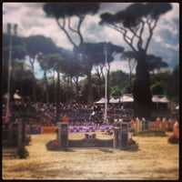 Photo taken at Piazza Di Siena by Radiosa on 5/26/2013