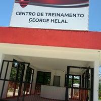 Photo taken at Ninho do Urubu (CT do Flamengo) by Nelia B. on 12/5/2013