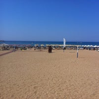 Photo taken at Rethymno Beach by Nikosp20 ✨ on 7/12/2013