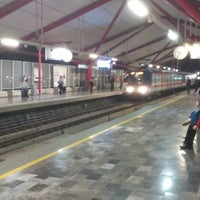 Photo taken at Metrorrey (Estación San Nicolás) by Marco T. on 3/2/2016