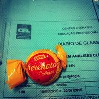 Photo taken at CEL- Centro Literatus Ensino Profissional by Thiago B. on 6/23/2015