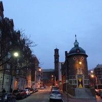 Photo taken at Halberstam Square by paddy M. on 2/1/2014