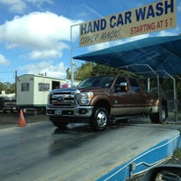 Photo taken at Super Magic Hand Car Wash by Hilda R. on 10/24/2012