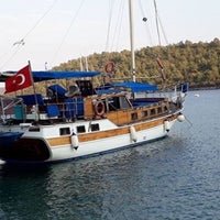 Photo taken at Gümbet İskelesi by Berkan Can on 8/16/2017