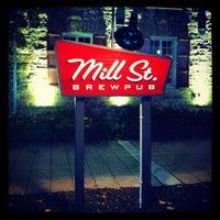 Photo taken at Mill St. Brew Pub by Abiel R. on 10/3/2012