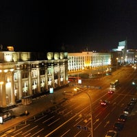 Photo taken at Гостиница «Минск» / Minsk Hotel by Ivan S. on 10/29/2013