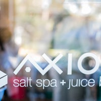 Photo taken at AXIOS salt spa + juice bar by AXIOS salt spa + juice bar on 2/28/2016