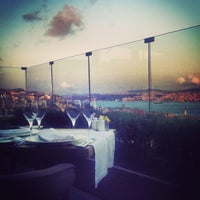 Photo taken at Georges Hotel Roof Terrace by Hande on 7/15/2013