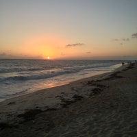 Photo taken at Riu Palace's Beach by Jason C. on 2/23/2013