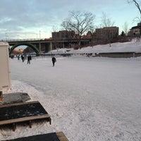 Photo taken at Rideau Canal Skateway by Abdulrahman A. on 2/21/2013
