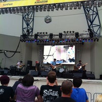 Photo taken at Tire Kingdom Stage @ Sunfest by Matt B. on 4/30/2014