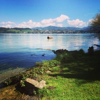 Photo taken at Insel Lützelau by Luis D. on 8/28/2014