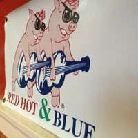 Photo taken at Red Hot & Blue  -  Barbecue, Burgers & Blues by Emil A. on 4/9/2013