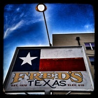 Photo taken at Fred's Texas Cafe by Emmett G. on 5/19/2013