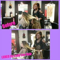 Photo taken at Tangibles Salon & Beautique by Melissa J. on 5/25/2015