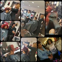 Photo taken at Tangibles Salon & Beautique by Melissa J. on 3/2/2015