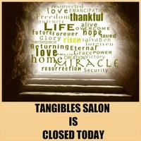 Photo taken at Tangibles Salon & Beautique by Melissa J. on 4/5/2015
