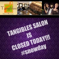 Photo taken at Tangibles Salon & Beautique by Melissa J. on 3/5/2015