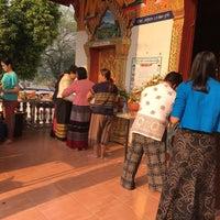 Photo taken at วัดน้ำแพร่ อ.พร้าว จ.เชียงใหม่ by Pang T. on 4/15/2016