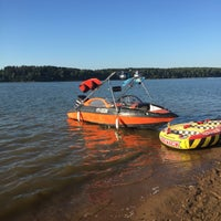 Photo taken at ICE beach by Ekaterina P. on 8/13/2015