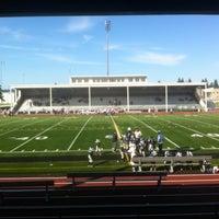 Photo taken at Goddard Memorial Stadium by Holly G. on 9/15/2012