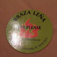 Photo taken at Braza Leña Brazilian Steakhouse by Beth B. on 11/23/2012