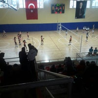 Photo taken at Corlu Kapali Spor Salonu by Melih D. on 1/21/2018