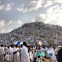 Photo taken at Arafah Mountain by Rayyan S. on 10/25/2012
