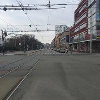 Photo taken at Pionýrská (tram, bus) by Tomáš R. on 2/28/2016