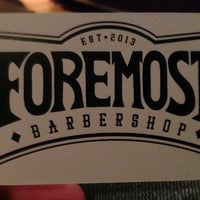 Photo taken at Foremost Barbershop by Todd M. on 11/8/2013