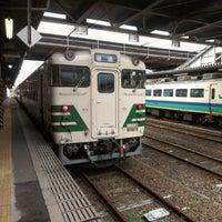 Photo taken at Akita Station by ぼ ぶ. on 7/28/2013