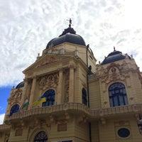 Photo taken at Színház tér by Dino M. on 9/6/2015