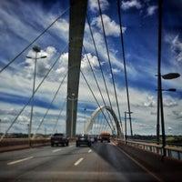 Photo taken at Orla da Ponte JK by Emanuel S. on 2/22/2013