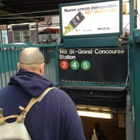 Photo taken at MTA Subway - 149th St/Grand Concourse (2/4/5) by Kay Slay on 10/9/2012