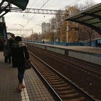 Снимок сделан в Платформа Маленковская пользователем Anastasia 👣 10/24/2012