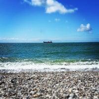 Photo taken at Plage du Havre by Florian L. on 8/12/2013