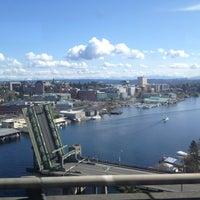 Photo taken at Ship Canal Bridge by Jonathan M. on 3/23/2013