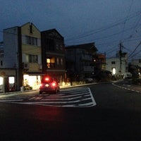 Photo taken at 新町通武者小路トライアングル by うみ u. on 8/1/2014