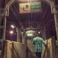Photo taken at Platform 9 @ Bangalore City Junction by Krishna A. on 6/27/2014