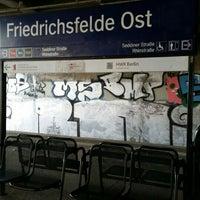 Photo taken at S Friedrichsfelde Ost by Thaarlian S. on 2/5/2016