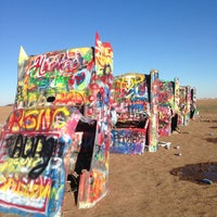 Photo taken at Cadillac Ranch by Oyot A. on 12/29/2012